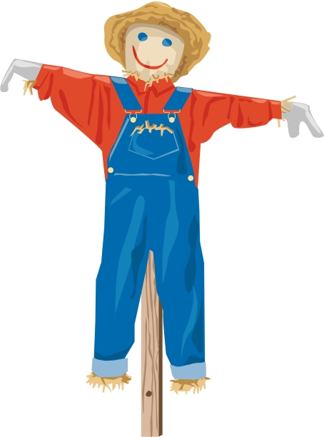 scarecrow-in-overalls